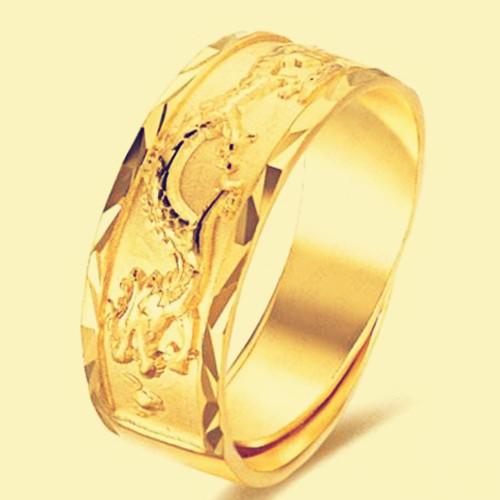 金戒指男款图片欣赏 男士戒指的戴法和意义
