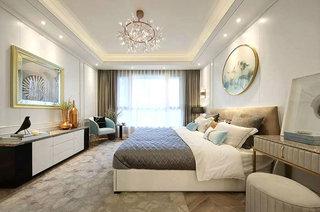 180平简约风格公寓主卧室装潢图