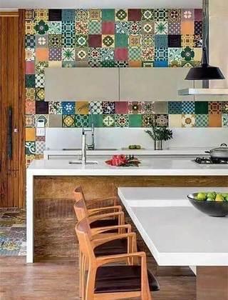 厨房小花砖装修构造图