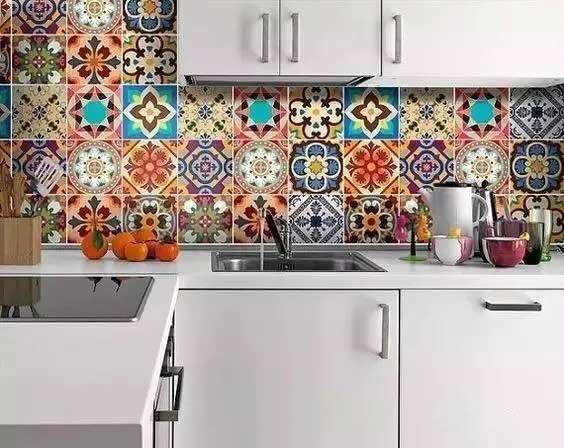 厨房小花砖设计平面图