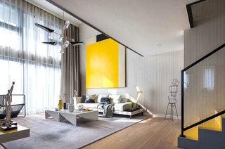 简约风格样板房客厅地毯图片