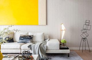 简约风格样板房布艺沙发图片
