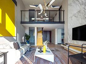 现代简约风格公寓样板房装修 游走的色彩