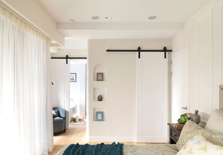 美式两居室卧室构造图
