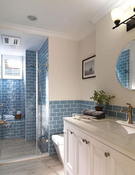 100平米美式两居室卫生间参考图