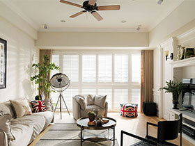 100平米美式两居室效果图  最简潮流