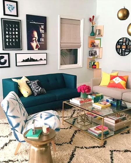 客厅布艺沙发混搭效果图