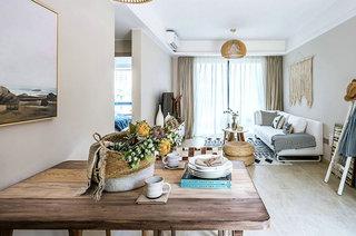 北欧风格样板房装修木质餐桌图片