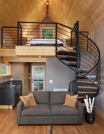 现代风loft公寓布置摆放图