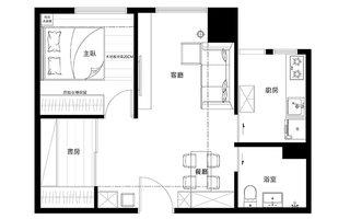 60平小户型公寓装修图 不拘一格做设计10/10