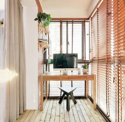 阳台改造书房布置平面图