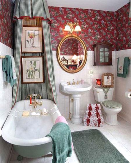 田园风格卫生间浴缸设计