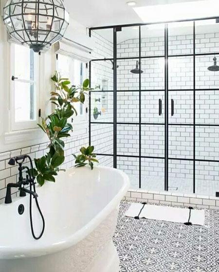 卫生间独立浴缸效果图