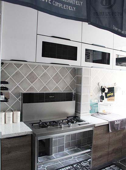 80㎡ 北欧风格厨房装修图