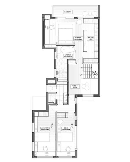 350平别墅装修二楼平面图