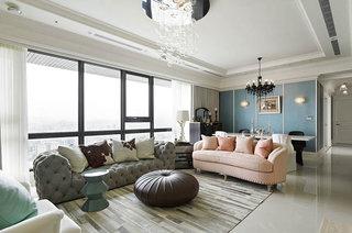 210平新古典风格装修客厅效果图