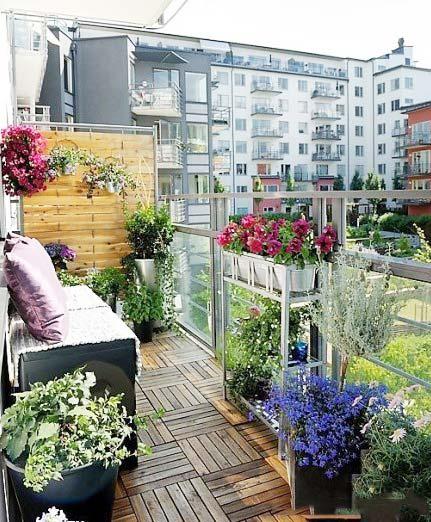 阳台花园设计布置图