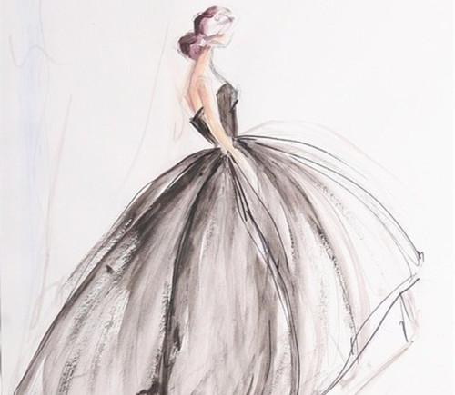 婚纱手绘图片欣赏 手绘婚纱礼服风格介绍