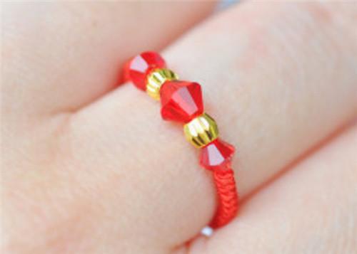 黄金转运珠戒指图片 怎么手工编织黄金转运珠戒指