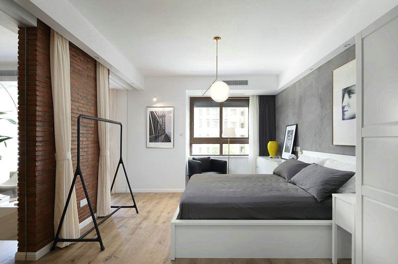 简约风格小户型装修卧室床品图片