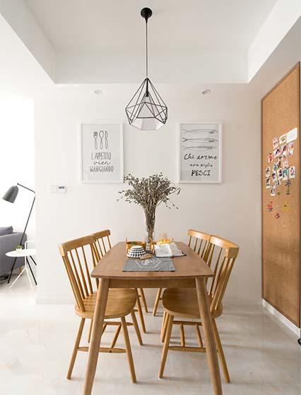 简约风单身公寓餐桌图片大全