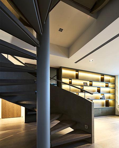 简约风格复式楼楼梯装修设计