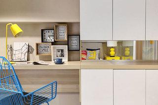 小户型复式楼房装修效果图 色彩创造无限可能5/10