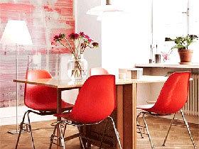 10个餐厅装修红色餐椅图片 与浪漫不期而遇