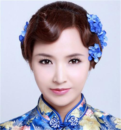 中式新娘盘发图片 2017典雅温婉盘发欣赏