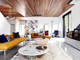 国外大户型公寓现代简约风格装修 随性自然