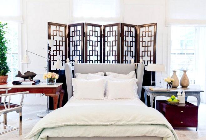 中式风格卧室装修屏风设计图