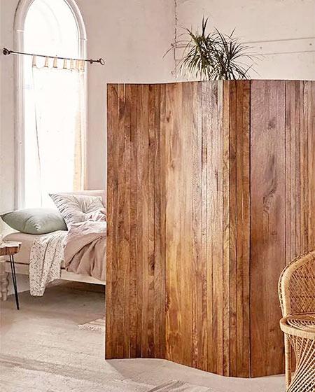 木质屏风装修卧室设计