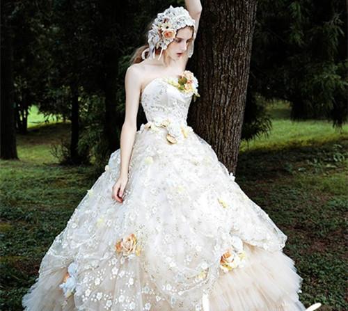 欧式婚纱图片欣赏 五种婚纱风格你适合哪种图片
