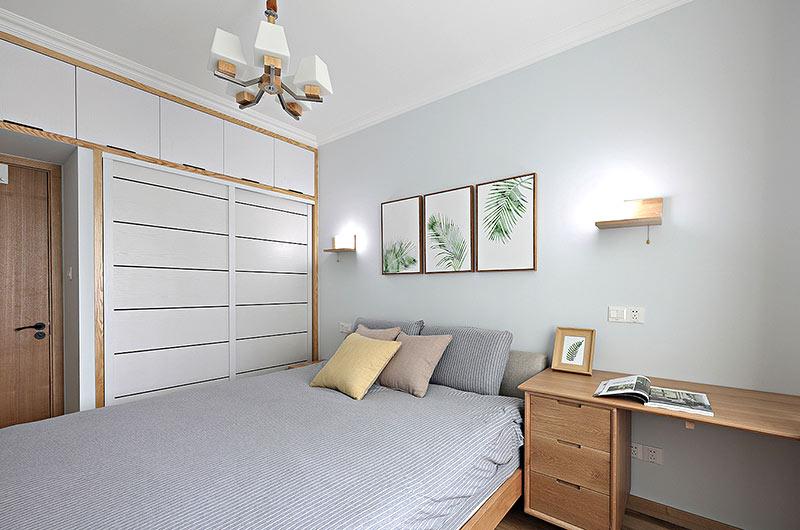 55平小两室装修卧室衣柜图片