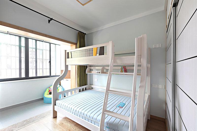 55平小两室装修儿童房高低床
