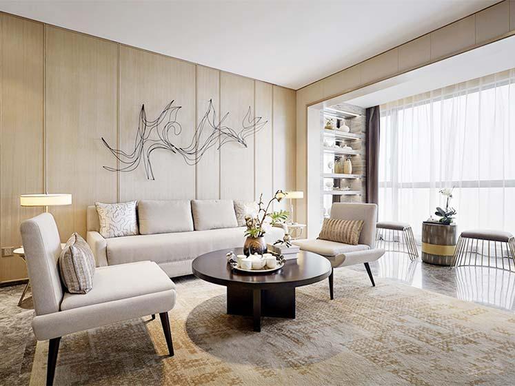 新中式客厅布置平面图