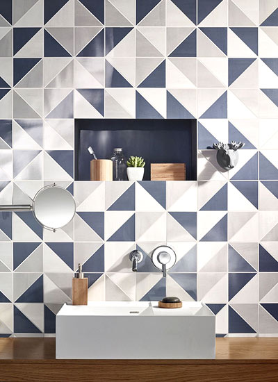 清爽浴室瓷砖贴图设计