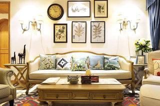 130平法式风格四居布艺沙发图片