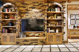 130平法式风格四居石材电视背景墙