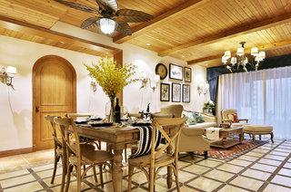 130平法式风格四居餐厅装修图片