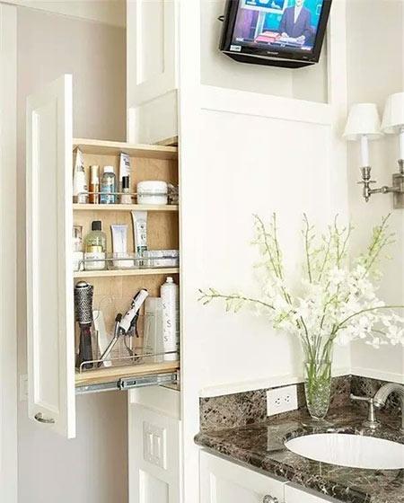 卫生间装修推拉柜效果图