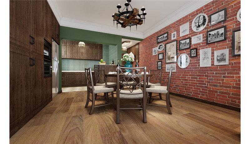5-10万90平米美式二居室装修效果图,美式风格1装修图图片