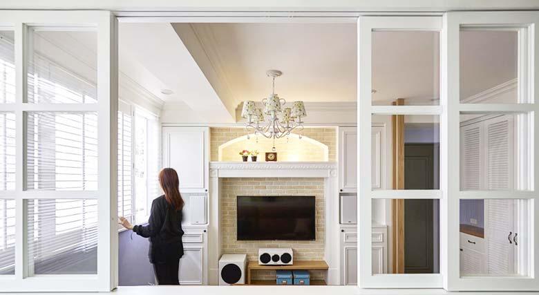 美式风格一居室隔断设计图