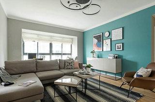 95平北欧风格二居客厅设计装修
