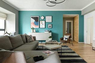 95平北欧风格二居客厅沙发图片
