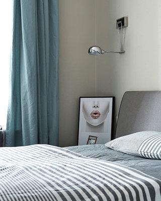 95平北欧风格二居卧室壁灯设计