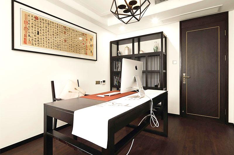 320平新中式风格别墅书房设计装修