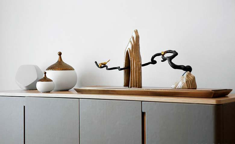 90㎡两居室装饰品构造图