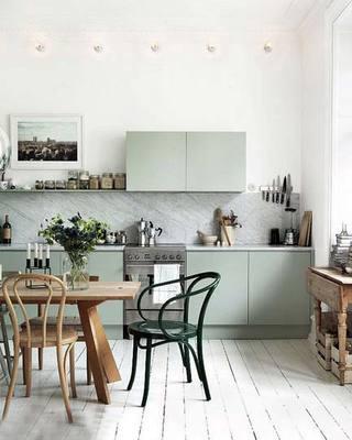 小清新厨房搭配设计参考图