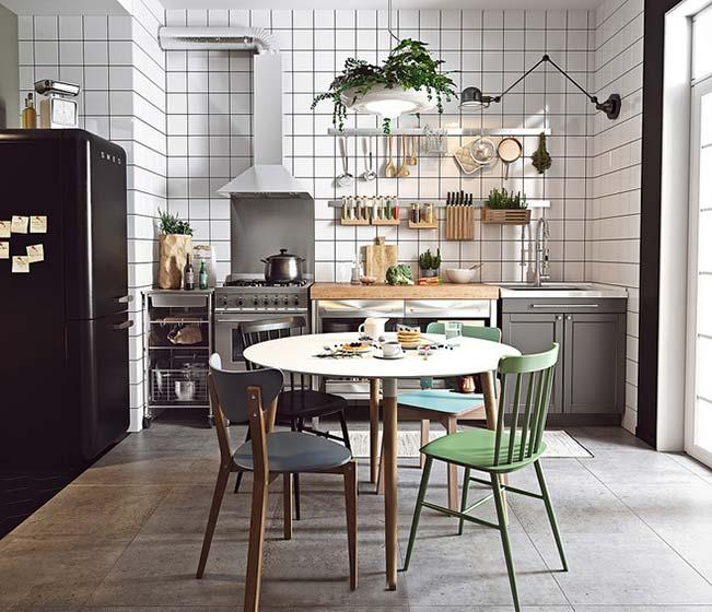 北欧风格厨房搭配平面图